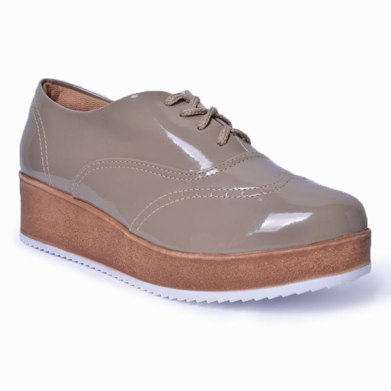Oxford Flatform Brogue Lady Choice - Verniz Rato 28001 G Fendi