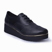 Oxford Flatform Brogue Lady Choice - Preto 4009-03 M Preto
