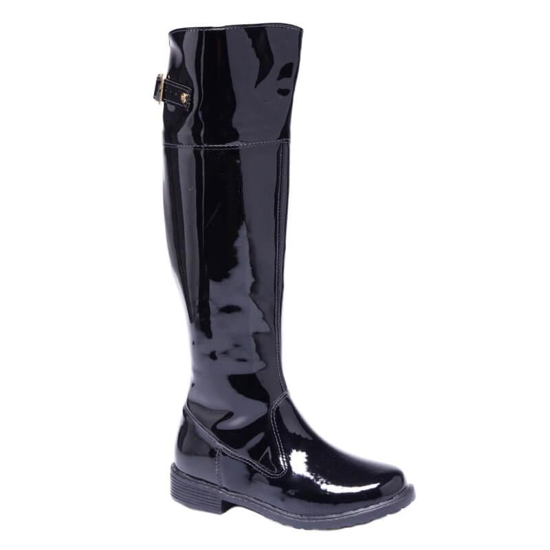 Bota Over The KneeVerniz Peki Lili - Preto 126-055-090